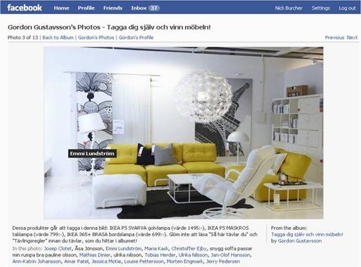 страница IKEA в Facebook
